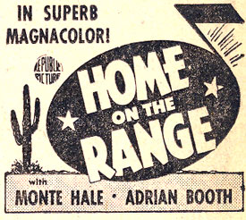 """Home On the Range"" ad."