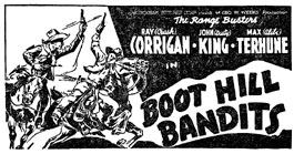 "Ad for ""Boot Hill Bandits""."