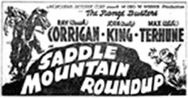"Ad for ""Saddle Mountain Roundup""."