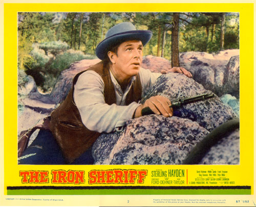 "Lobby card from ""The Iron Sherriff""."