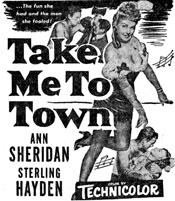 "Newspaper ad for ""Take Me to Town""."