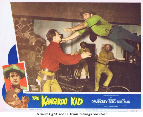 "A wild fight scene from ""Kangaroo Kid""."