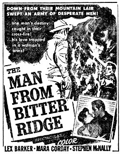 """Ad for """"The Man from Bitter Ridge""""."""